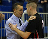 Florida head coach Billy Donovan & his son Billy Donovan during the Gators' 114-57 win over the Catholic Cardinals on Thursday, November 3, 2011 at the Steven C. O'Connell Center in Gainesville, Fla./Gator Country photo by Rob Foldy