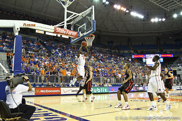 Florida sophomore forward Will Yeguete during the Gators' 114-57 win over the Catholic Cardinals on Thursday, November 3rd, 2011 at the Steven C. O'Connell Center in Gainesville, Fla./Gator Country photo by Rob Foldy