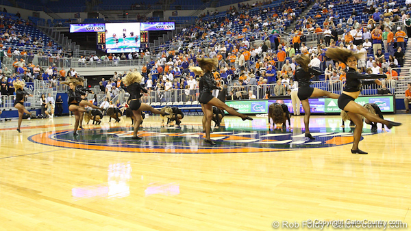 Florida dazzlers during the Gators' 114-57 win over the Catholic Cardinals on Thursday, November 3rd, 2011 at the Steven C. O'Connell Center in Gainesville, Fla./Gator Country photo by Rob Foldy