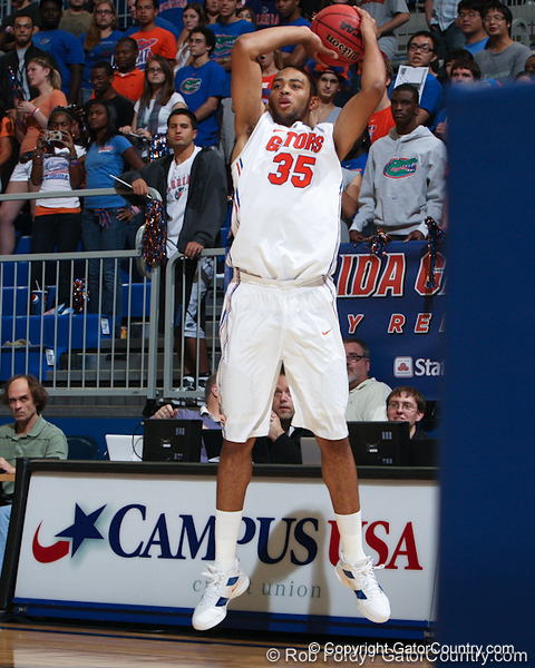 Florida freshman forward Walter Pitchford during the Gators' 114-57 win over the Catholic Cardinals on Thursday, November 3, 2011 at the Steven C. O'Connell Center in Gainesville, Fla./Gator Country photo by Rob Foldy