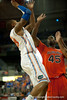 Florida freshman guard Bradley Beal dominates the boards during the Gators' 63-47 win against the Auburn Tigers on Tuesday, February 21, 2012 at the Stephen C. O'Connell Center in Gainesville, Fla. / Gator Country photo by Saj Guevara