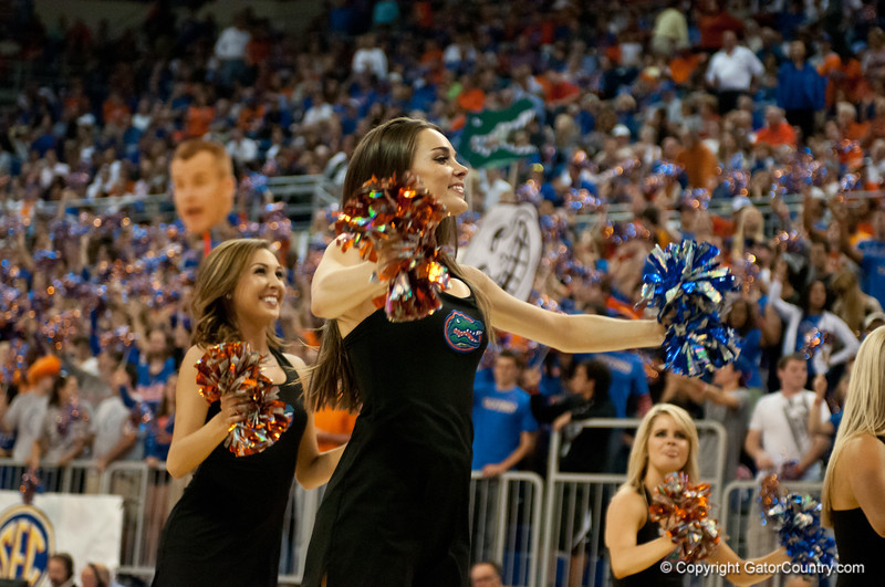 Florida Dazzlers cheer on the crowd during the Gators' 63-47 win against the Auburn Tigers on Tuesday, February 21, 2012 at the Stephen C. O'Connell Center in Gainesville, Fla. / Gator Country photo by Saj Guevara