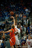 Florida sophomore center Patric Young at tip off during the Gators' 63-47 win against the Auburn Tigers on Tuesday, February 21, 2012 at the Stephen C. O'Connell Center in Gainesville, Fla. / Gator Country photo by Saj Guevara