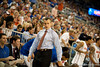 Florida coach Billy Donovan directing his team during the Gators' 63-47 win against the Auburn Tigers on Tuesday, February 21, 2012 at the Stephen C. O'Connell Center in Gainesville, Fla. / Gator Country photo by Saj Guevara