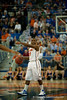 Florida senior guard Erving Walker directing traffic during the Gators' 63-47 win against the Auburn Tigers on Tuesday, February 21, 2012 at the Stephen C. O'Connell Center in Gainesville, Fla. / Gator Country photo by Saj Guevara