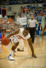 Florida senior guard Erving Walker off balance drive during the Gators' 63-47 win against the Auburn Tigers on Tuesday, February 21, 2012 at the Stephen C. O'Connell Center in Gainesville, Fla. / Gator Country photo by Saj Guevara