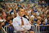 Florida coach Billy Donovan analyzing the game during the Gators' 63-47 win against the Auburn Tigers on Tuesday, February 21, 2012 at the Stephen C. O'Connell Center in Gainesville, Fla. / Gator Country photo by Saj Guevara