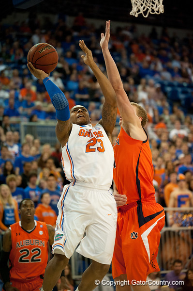Florida freshman guard Bradley Beal slays in 2 points during the Gators' 63-47 win against the Auburn Tigers on Tuesday, February 21, 2012 at the Stephen C. O'Connell Center in Gainesville, Fla. / Gator Country photo by Saj Guevara