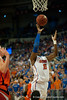 Florida sophomore forward Will Yeguete drives during the Gators' 63-47 win against the Auburn Tigers on Tuesday, February 21, 2012 at the Stephen C. O'Connell Center in Gainesville, Fla. / Gator Country photo by Saj Guevara