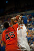 Florida sophomore forward Casey Prather fouled on a jump shot attempt during the Gators' 63-47 win against the Auburn Tigers on Tuesday, February 21, 2012 at the Stephen C. O'Connell Center in Gainesville, Fla. / Gator Country photo by Saj Guevara