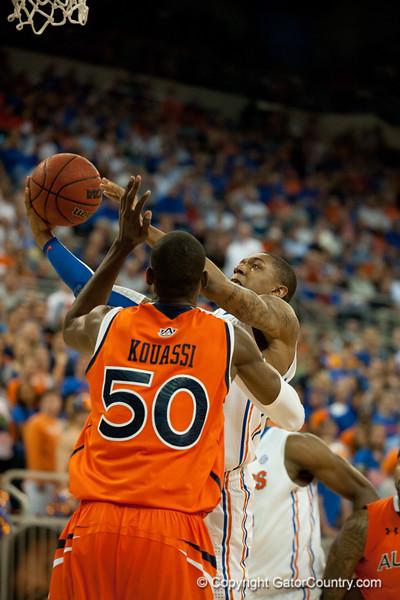 Florida freshman guard Bradley Beal lays 2 points during the Gators' 63-47 win against the Auburn Tigers on Tuesday, February 21, 2012 at the Stephen C. O'Connell Center in Gainesville, Fla. / Gator Country photo by Saj Guevara
