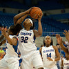 Florida junior forward Jennifer George with the rebound a a follow up shot during the Gators' 79-45 win against the Mississippi St. Bulldogs on Thursday, February 23, 2012 at the Stephen C. O'Connell Center in Gainesville, Fla. / Gator Country photo by Saj Guevara