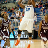 Florida junior forward Jennifer George on a post up shot during the Gators' 79-45 win against the Mississippi St. Bulldogs on Thursday, February 23, 2012 at the Stephen C. O'Connell Center in Gainesville, Fla. / Gator Country photo by Saj Guevara