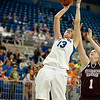Florida senior center Azania Stewart on a follow up shot during the Gators' 79-45 win against the Mississippi St. Bulldogs on Thursday, February 23, 2012 at the Stephen C. O'Connell Center in Gainesville, Fla. / Gator Country photo by Saj Guevara