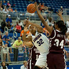 Florida junior forward Jennifer George was fouled during the Gators' 79-45 win against the Mississippi St. Bulldogs on Thursday, February 23, 2012 at the Stephen C. O'Connell Center in Gainesville, Fla. / Gator Country photo by Saj Guevara