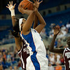 Florida junior forward Jennifer George shoots a hard basket during the Gators' 79-45 win against the Mississippi St. Bulldogs on Thursday, February 23, 2012 at the Stephen C. O'Connell Center in Gainesville, Fla. / Gator Country photo by Saj Guevara