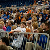 Excited crowd during the Gators' 79-45 win against the Mississippi St. Bulldogs on Thursday, February 23, 2012 at the Stephen C. O'Connell Center in Gainesville, Fla. / Gator Country photo by Saj Guevara