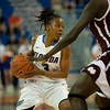 Florida senior guard Lanita Bartley taking charge during the Gators' 79-45 win against the Mississippi St. Bulldogs on Thursday, February 23, 2012 at the Stephen C. O'Connell Center in Gainesville, Fla. / Gator Country photo by Saj Guevara