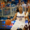Florida senior guard Deana Allen drives during the Gators' 79-45 win against the Mississippi St. Bulldogs on Thursday, February 23, 2012 at the Stephen C. O'Connell Center in Gainesville, Fla. / Gator Country photo by Saj Guevara