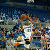 Florida sophomore guard Brittany Shine with a layup during the Gators' 79-45 win against the Mississippi St. Bulldogs on Thursday, February 23, 2012 at the Stephen C. O'Connell Center in Gainesville, Fla. / Gator Country photo by Saj Guevara