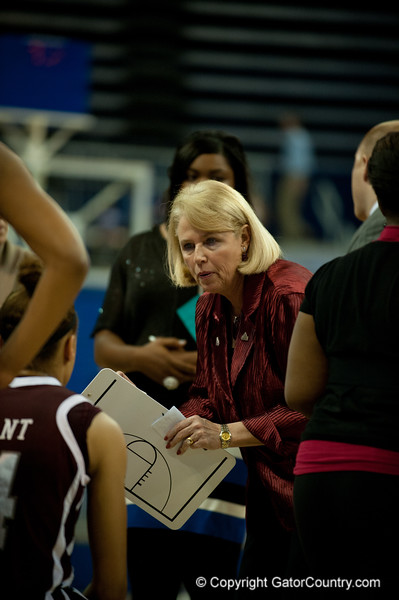 Mississippi St Head Coach Sharon Fanning-Otis during the Gators' 79-45 win against the Mississippi St. Bulldogs on Thursday, February 23, 2012 at the Stephen C. O'Connell Center in Gainesville, Fla. / Gator Country photo by Saj Guevara