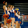 Florida Cheerleaders during the Gators' 79-45 win against the Mississippi St. Bulldogs on Thursday, February 23, 2012 at the Stephen C. O'Connell Center in Gainesville, Fla. / Gator Country photo by Saj Guevara