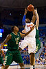 Florida sophomore forward Will Yeguete grabs a rebound during the first half of the Gators' 79-61 win against the UAB Blazers on Tuesday at the Stephen C. O'Connell Center in Gainesville, Fla. / photo by Matt Pendleton