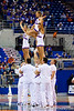 Florida cheerleaders perform during the second half of the Gators' 79-61 win against the UAB Blazers on Tuesday at the Stephen C. O'Connell Center in Gainesville, Fla. / photo by Matt Pendleton
