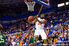 Florida freshman guard Bradley Beal makes a reverse layup during the second half of the Gators' 79-61 win against the UAB Blazers on Tuesday at the Stephen C. O'Connell Center in Gainesville, Fla. / photo by Matt Pendleton