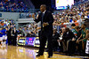 UAB coach Mike Davis shouts instructions during the first half of the Gators' 79-61 win against the Blazers on Tuesday at the Stephen C. O'Connell Center in Gainesville, Fla. / photo by Matt Pendleton