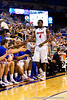 Florida redshirt sophomore receiver Andre Debose returns to the bench during the second half of the Gators' 79-61 win against the UAB Blazers on Tuesday at the Stephen C. O'Connell Center in Gainesville, Fla. / photo by Matt Pendleton