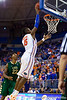 Florida sophomore forward Will Yeguete leaps for a shot during the second half of the Gators' 79-61 win against the UAB Blazers on Tuesday at the Stephen C. O'Connell Center in Gainesville, Fla. / photo by Matt Pendleton