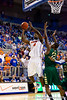 Florida sophomore center Patric Young shoots a layup during the first half of the Gators' 79-61 win against the UAB Blazers on Tuesday at the Stephen C. O'Connell Center in Gainesville, Fla. / photo by Matt Pendleton