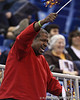 A fan dances in the stands during the Gators' 72-45 victory against the Belmont University Bruins on Tuesday, November 29, 2011 held at the Stephen C. O'Connell Center in Gainesville, Fla. / Gator Country photo by Rob Foldy