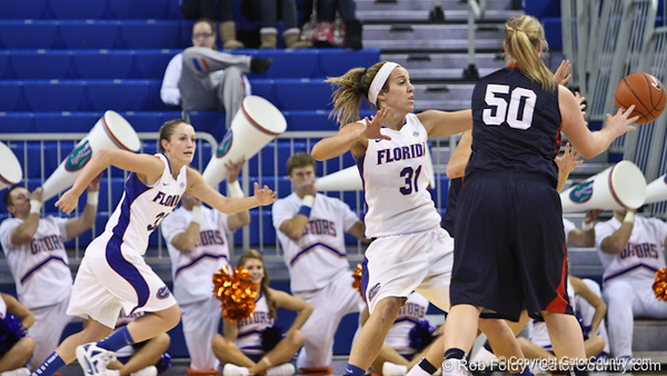 during the Gators' 72-45 victory against the Belmont University Bruins on Tuesday, November 29, 2011 held at the Stephen C. O'Connell Center in Gainesville, Fla. / Gator Country photo by Rob Foldy