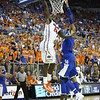 Casey Prather dunks during Florida's 69-52 win over Kentucky on February 12, 2013 at the Stephen C O'Connell Center in Gainesville, Florida. Pictures taken by Curtiss Bryant for Gatorcountry.com