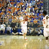 Scottie Wilbekin passes to Michael Frazier during Florida's 69-52 win over Kentucky on February 12, 2013 at the Stephen C O'Connell Center in Gainesville, Florida. Pictures taken by Curtiss Bryant for Gatorcountry.com