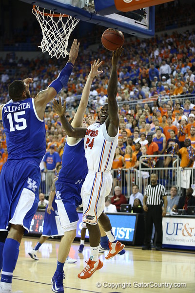 Casey Prather during Florida's 69-52 win over Kentucky on February 12, 2013 at the Stephen C O'Connell Center in Gainesville, Florida. Pictures taken by Curtiss Bryant for Gatorcountry.com