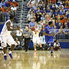 Scottie Wilbekin passes to Kenny Boynton during Florida's 69-52 win over Kentucky on February 12, 2013 at the Stephen C O'Connell Center in Gainesville, Florida. Pictures taken by Curtiss Bryant for Gatorcountry.com