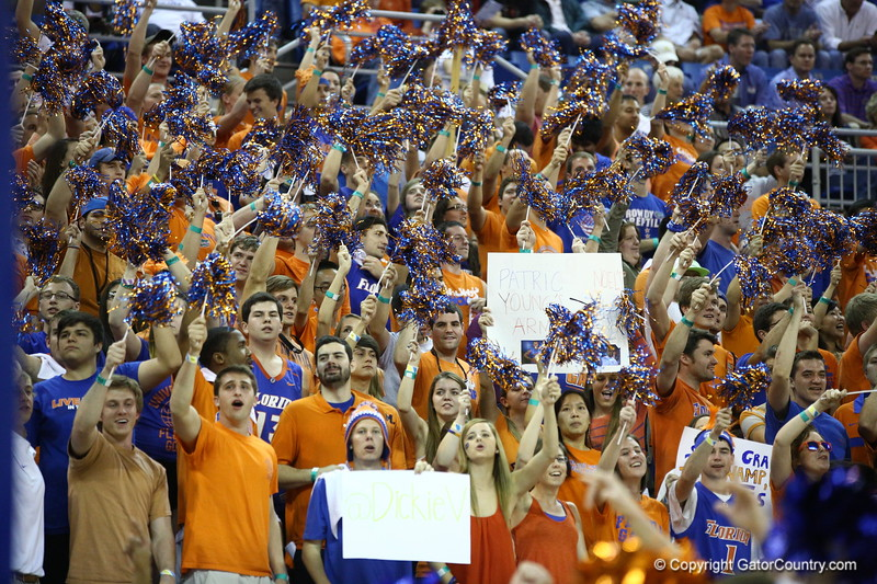 Fans during Florida's 69-52 win over Kentucky on February 12, 2013 at the Stephen C O'Connell Center in Gainesville, Florida. Pictures taken by Curtiss Bryant for Gatorcountry.com