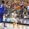 Scottie Wilbiken during Florida's 69-52 win over Kentucky on February 12, 2013 at the Stephen C O'Connell Center in Gainesville, Florida. Pictures taken by Curtiss Bryant for Gatorcountry.com