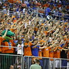 Fans with Albert during Florida's 69-52 win over Kentucky on February 12, 2013 at the Stephen C O'Connell Center in Gainesville, Florida. Pictures taken by Curtiss Bryant for Gatorcountry.com