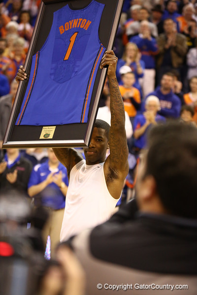 Kenny Boynton on senior night during Florida's 66-40 win over Vanderbilt on March 6, 2013 at the Stephen C O'Connell Center in Gainesville, Florida. Photos by Curtiss Bryant for Gatorcountry.com