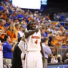 Patric Young points to the stands during Florida's 66-40 win over Vanderbilt on March 6, 2013 at the Stephen C O'Connell Center in Gainesville, Florida. Photos by Curtiss Bryant for Gatorcountry.com