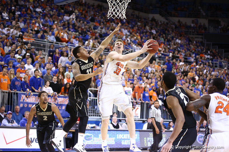 Erik Murphy shoots during Florida's 66-40 win over Vanderbilt on March 6, 2013 at the Stephen C O'Connell Center in Gainesville, Florida. Photos by Curtiss Bryant for Gatorcountry.com