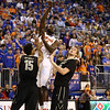 Patric Young shoots during Florida's 66-40 win over Vanderbilt on March 6, 2013 at the Stephen C O'Connell Center in Gainesville, Florida. Photos by Curtiss Bryant for Gatorcountry.com