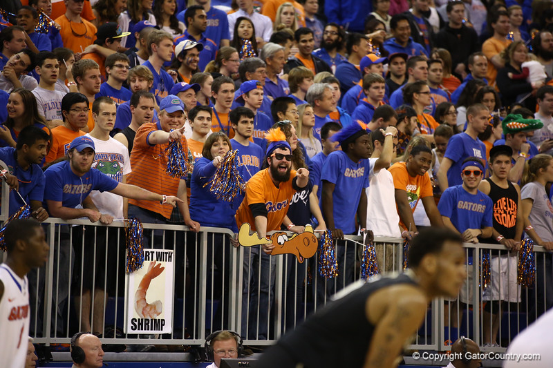 Fans during Florida's 66-40 win over Vanderbilt on March 6, 2013 at the Stephen C O'Connell Center in Gainesville, Florida. Photos by Curtiss Bryant for Gatorcountry.com