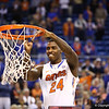 Casey Prather cuts down the net during Florida's 66-40 win over Vanderbilt on March 6, 2013 at the Stephen C O'Connell Center in Gainesville, Florida. Photos by Curtiss Bryant for Gatorcountry.com