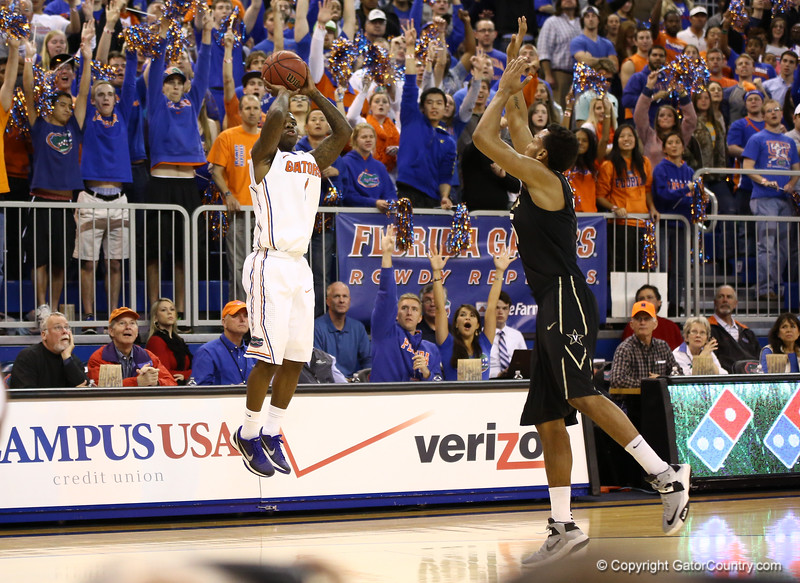 Kenny Boynton during Florida's 66-40 win over Vanderbilt on March 6, 2013 at the Stephen C O'Connell Center in Gainesville, Florida. Photos by Curtiss Bryant for Gatorcountry.com
