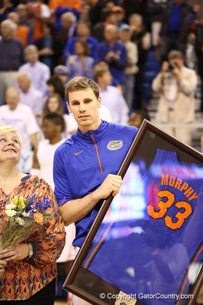 Erik Murphy on senior night during Florida's 66-40 win over Vanderbilt on March 6, 2013 at the Stephen C O'Connell Center in Gainesville, Florida. Photos by Curtiss Bryant for Gatorcountry.com